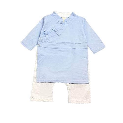 Newborn Baby Boy Girl Button Solid Romper Jumpsuit Kimono Clothes Sleepwear
