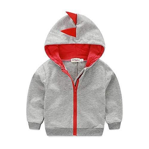 Kids Boys outwear Fleece Casual Hoodie Zip Long Sleeve Coat Hooded Sweatshirt