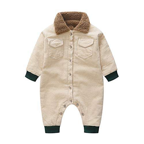 Buy MILANCEL Baby Rompers Winter Baby Boys Jumpsuits Corduroy Infant Girls  Rompers Winter Baby Outfit Thicken Lining Baby Rompers, Features, Price,  Reviews Online in India - Justdial