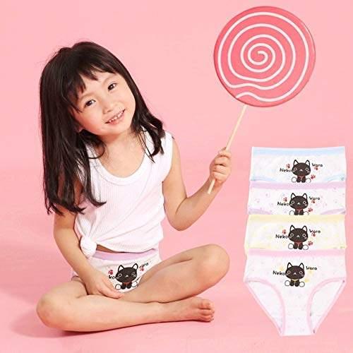 Buy SOLEDI 4 Pcs/Lot Children Underwear Cotton Girls Panties Briefs  Clothing Cute Cat Cartoon Printed Baby Girl Underpants Kids Briefs,  Features, Price, Reviews Online in India - Justdial