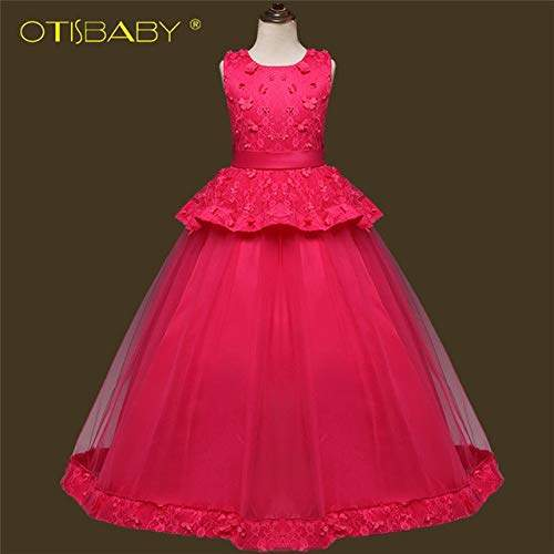 Buy Soledi 2019 Lace Pageant Formal Dresses For Girls Kids Dress Ball Gown Long Teenagers Floor Length Evening Party Princess Dress Rose Features Price Reviews Online In India Justdial