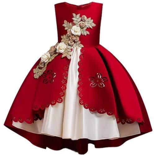 Buy Hangon Girls Dress Christmas Kids Dresses For Girls Elegant Princess Dress For Girl Party Gown Children Clothing 3 6 8 10 Years Wine Red Features Price Reviews Online In India Justdial