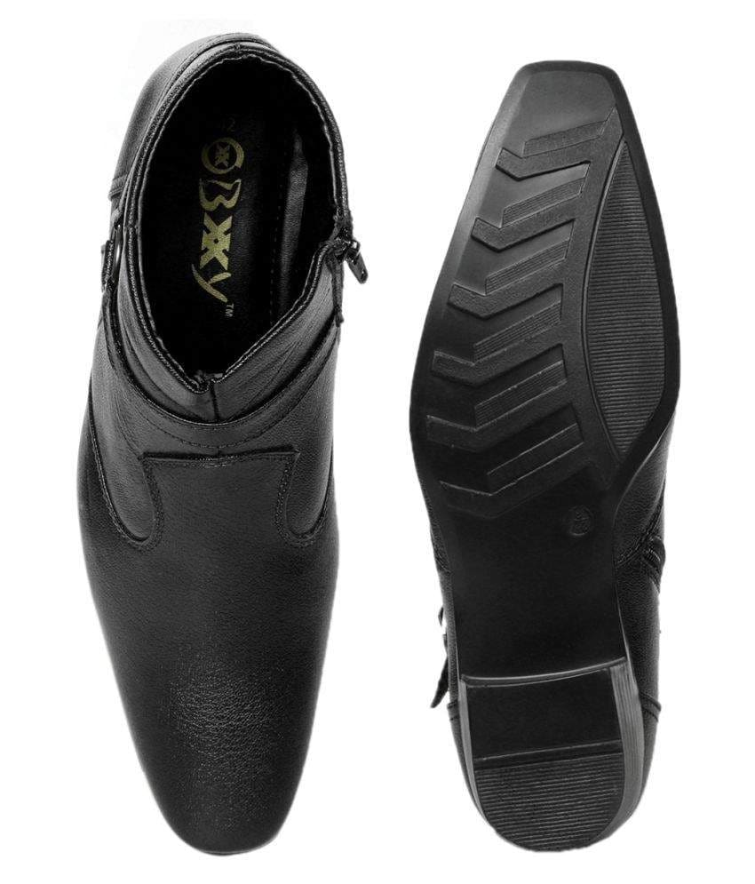 Buy Bxxy Black Height Increasing Shoes