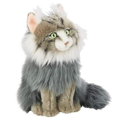 Buy Fao Schwarz 12 Plush Maine Coon Cat Gray By Fao Schwarz Features Price Reviews Online In India Justdial