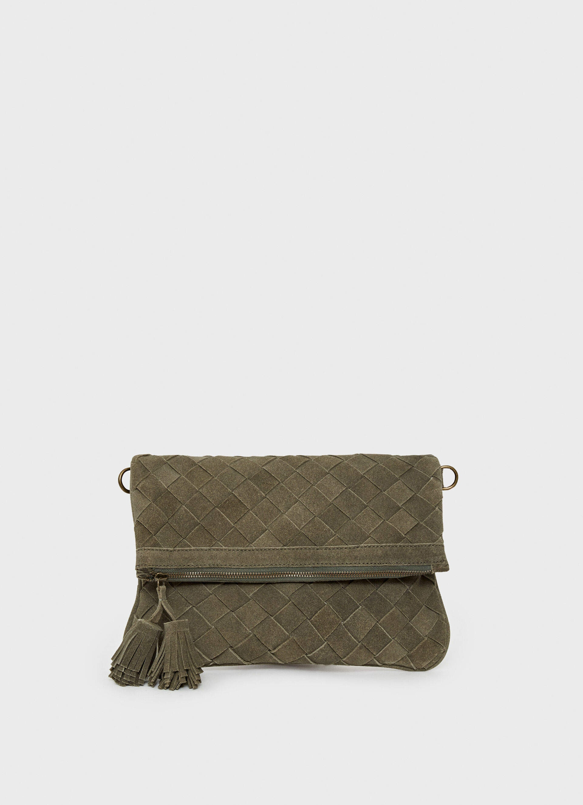 Buy Pepe Jeans Elia Suede Shoulder Bag Pl031037 Seagrass Features Price Reviews Online In India Justdial