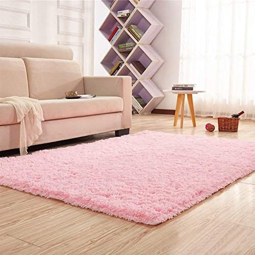 Buy Pink Noahas Super Soft 4 5cm Thick Modern Shag Area Rugs Fluffy Living Room Carpet Comfy Bedroom Home Decorate Floor Kids Playing Mat 4 Feet By 5 3 Feet Features Price Reviews