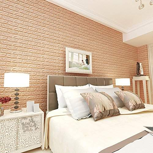 Buy Rrimin New Pe Foam Wall Stickers 3d Wallpaper Diy Wall Decor Stickers 60 60 Cm Apricot Features Price Reviews Online In India Justdial