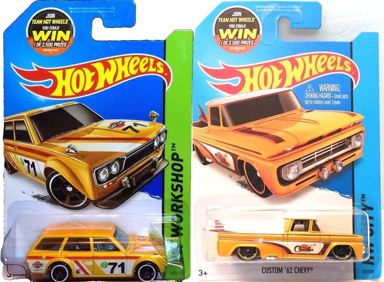 Buy Summer Yellow Hot Wheels Truck Amp Wagon Set Datsun Bluebird 510 Amp Custom 62 Chevy Hot Wheels Hw Cit Features Price Reviews Online In India Justdial