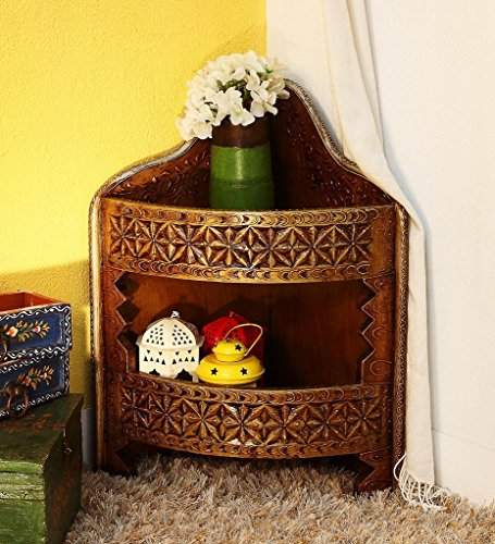 They Wooden Hand Painted Corner, Hand Painted Cabinet India