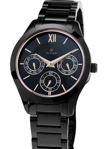 Buy Titan Black Ladies Watch 2570nm01 Features Price Reviews Online In India Justdial