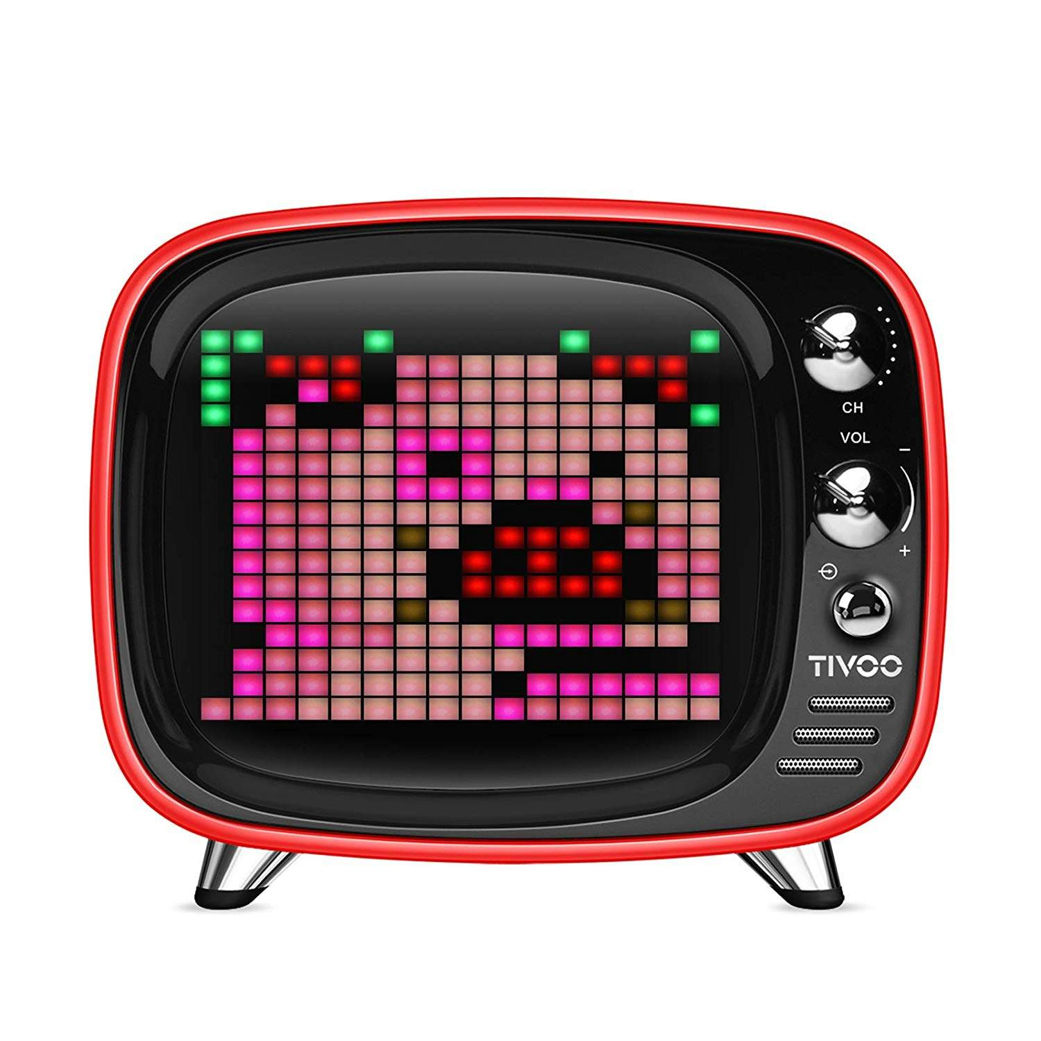 Buy Tivoo The Pixel Art Bluetooth Speaker Tivoo Retro 16x16 Pixel Art Diy Box Full Rgb Programmable Led By App Control Support Android Amp Ios Bluetooth Speaker Support Tf Card Amp