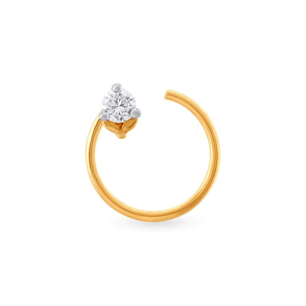 Buy Tanishq Women 18kt Gold And Diamond Nose Pin 0 326g Features Price Reviews Online In India Justdial