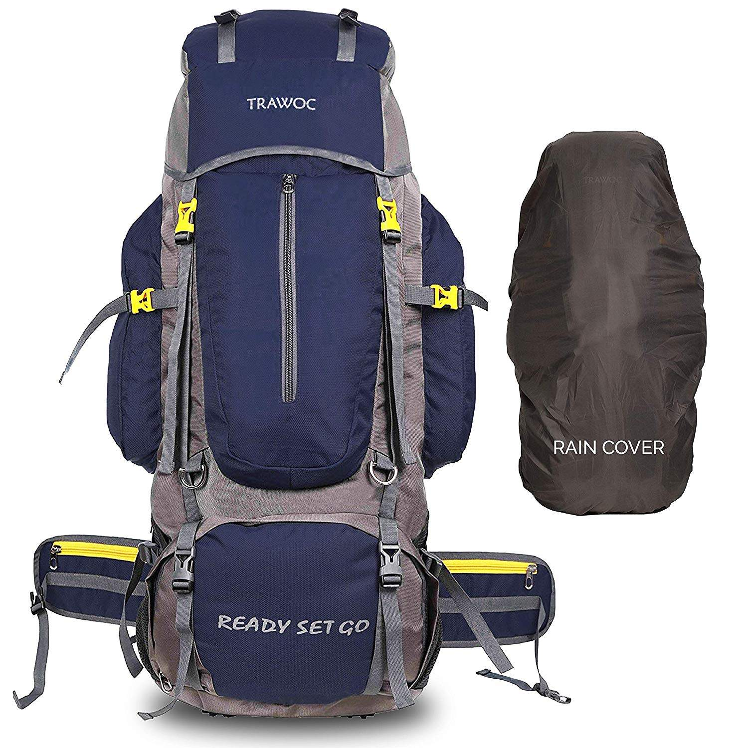 Buy Trawoc 80 Liter Travel Backpack For Outdoor Sport Camp Hiking Trekking Bag Camping Rucksack Bhk001 Navy Blue Features Price Reviews Online In India Justdial