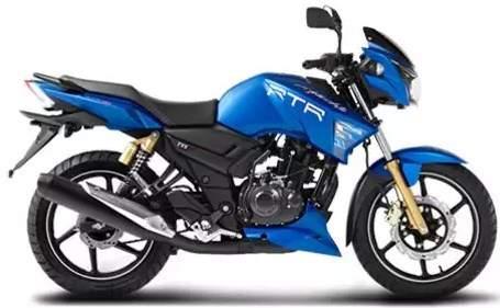 TVS Apache RTR 180 ABS Loan Matte Blue Model