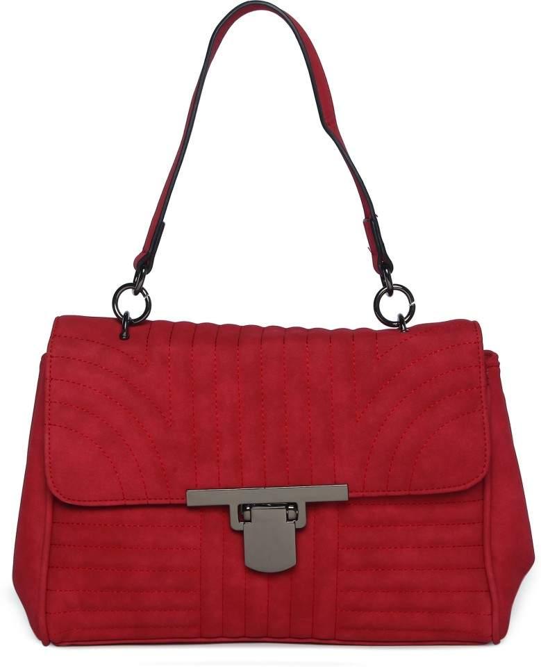 Benetton Women Shoulder Bag Maroon