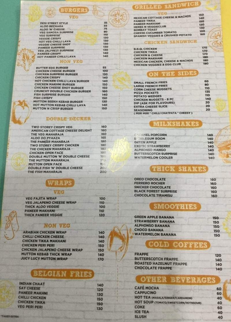Hangout, Bhelupura, Varanasi - Food Menu Card - Justdial
