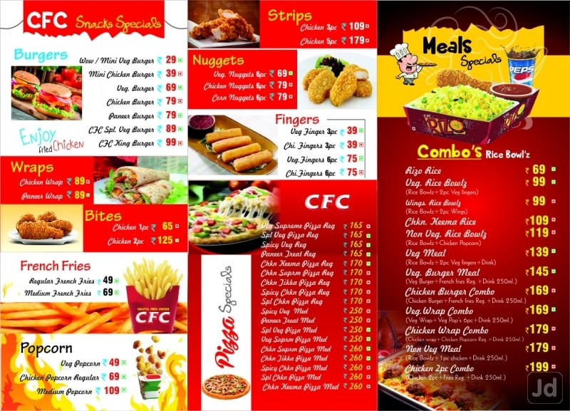 Coastal Fried Chicken, , Vizianagaram - Food Menu Card - Justdial